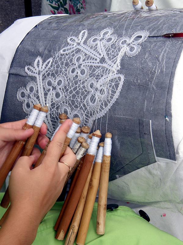 кружева плетеные на коклюшках