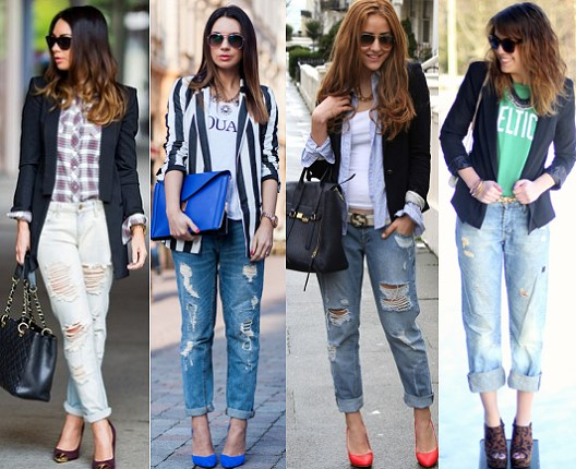 С чем носят рваные джинсы?